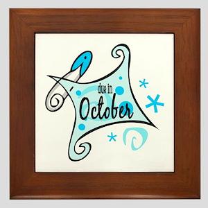 Due in October [Blue] Framed Tile